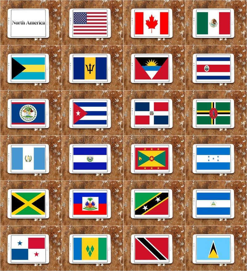 Amerika flags nord royaltyfri illustrationer