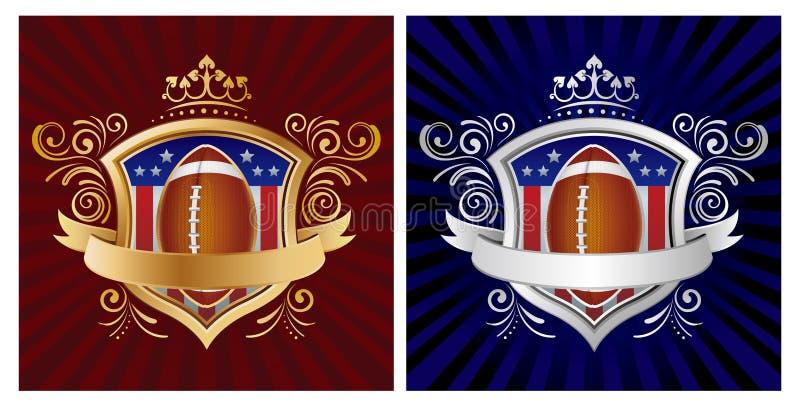 Amerika fotbollsköld royaltyfri illustrationer