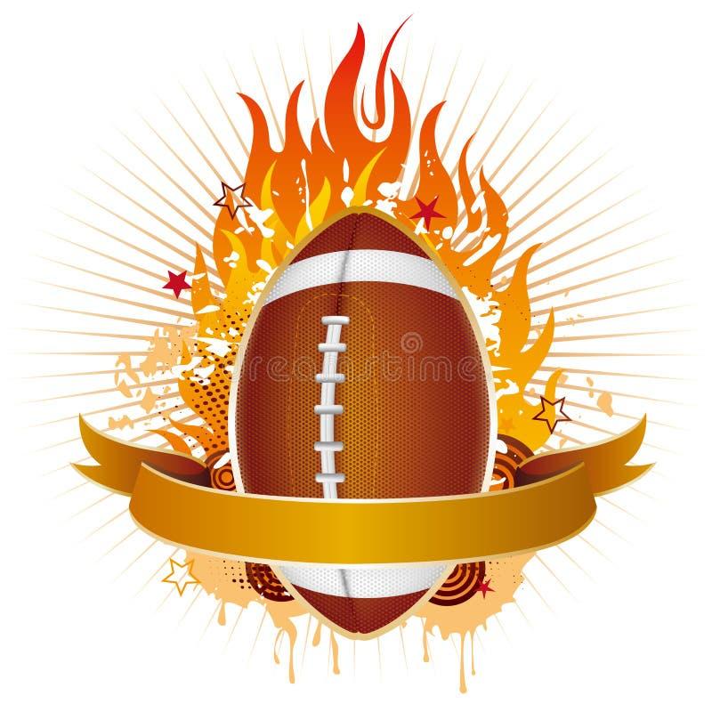 Amerika-Fußball mit Flammen vektor abbildung