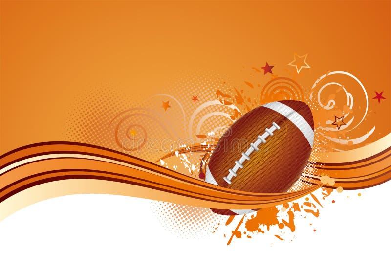 Amerika-Fußballhintergrund vektor abbildung