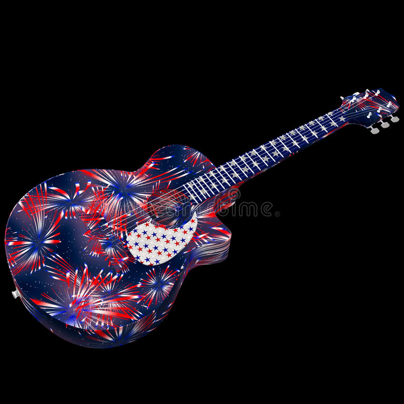 Amerika-Gitarre stockbild