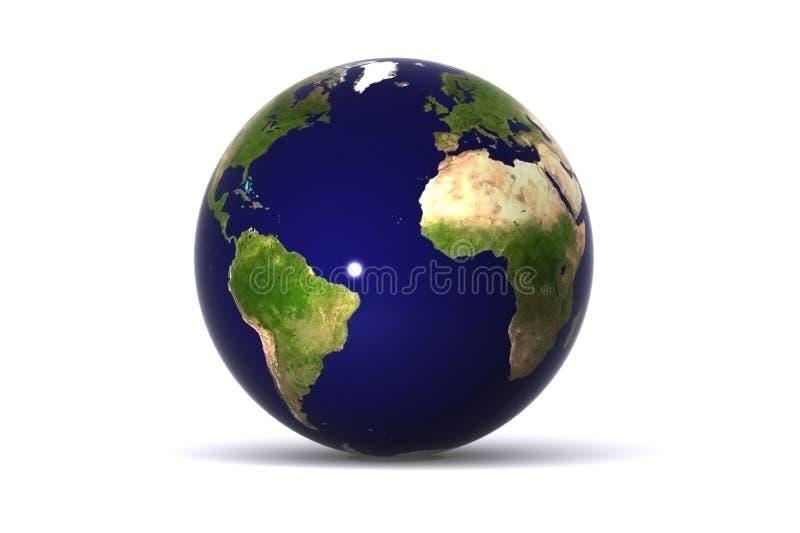Amerika jord isolerade Europa stock illustrationer