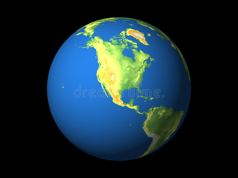 Amerika norr värld stock illustrationer