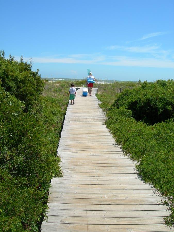 Download Amerika Strand Carolina Som är Södra Till Walkwayen Fotografering för Bildbyråer - Bild av athwart, leka: 981413