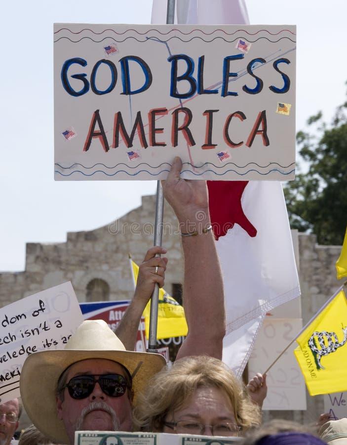 Amerika välsignar guden royaltyfria foton