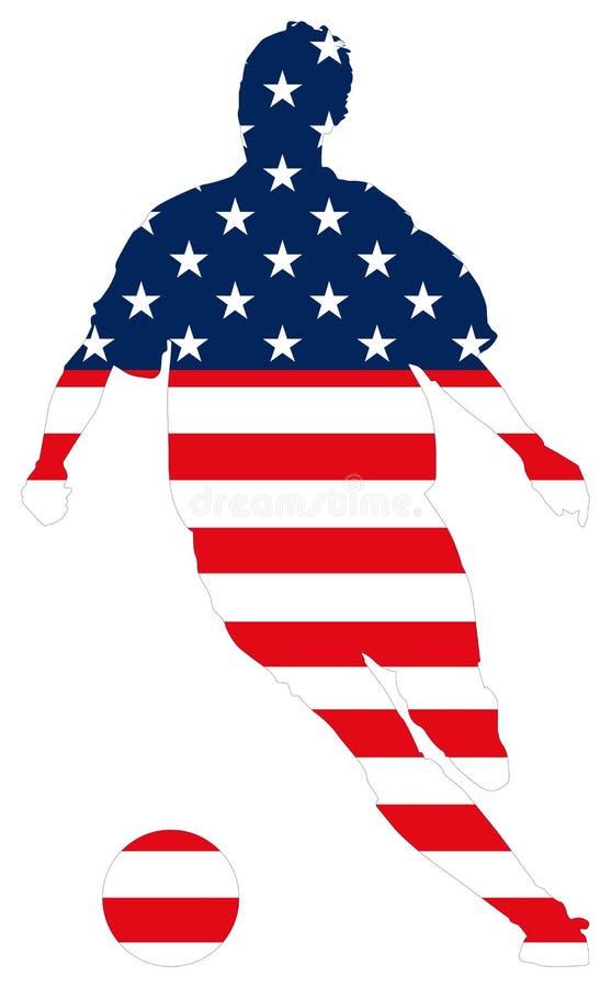 Amerika vektor stock illustrationer