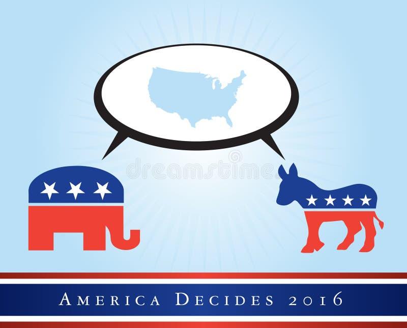 Amerika 2016 verkiezingen vector illustratie