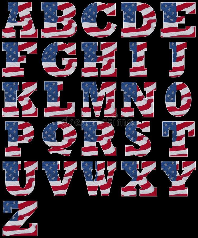 Amerikaans alfabet royalty-vrije illustratie