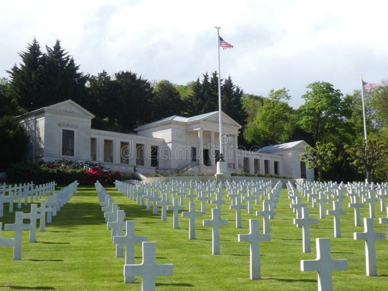 Amerikaans Begraafplaats en Gedenkteken van Suresnes, Frankrijk, Europa royalty-vrije stock foto