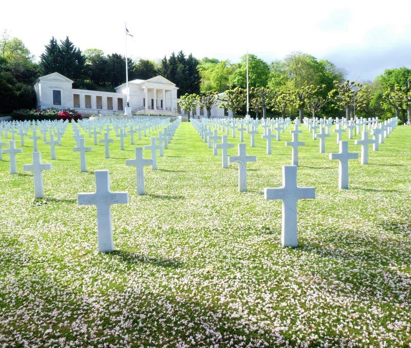 Amerikaans Begraafplaats en Gedenkteken van Suresnes, Frankrijk, in Europa royalty-vrije stock foto