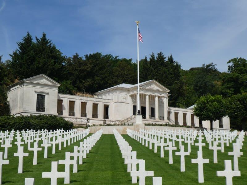 Amerikaans Begraafplaats en Gedenkteken van Suresnes, Frankrijk, 2019 royalty-vrije stock afbeelding