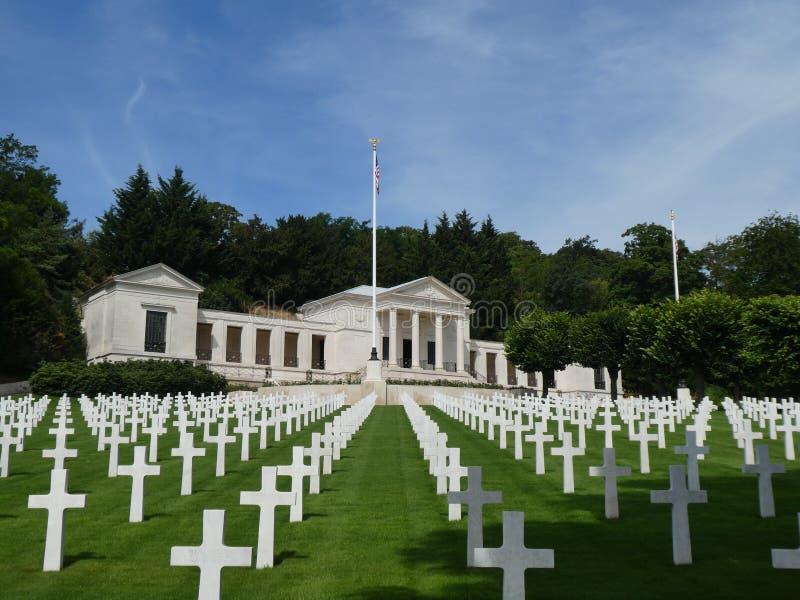 Amerikaans Begraafplaats en Gedenkteken van Suresnes, Hauts de Seine, Frankrijk, 2019 stock foto
