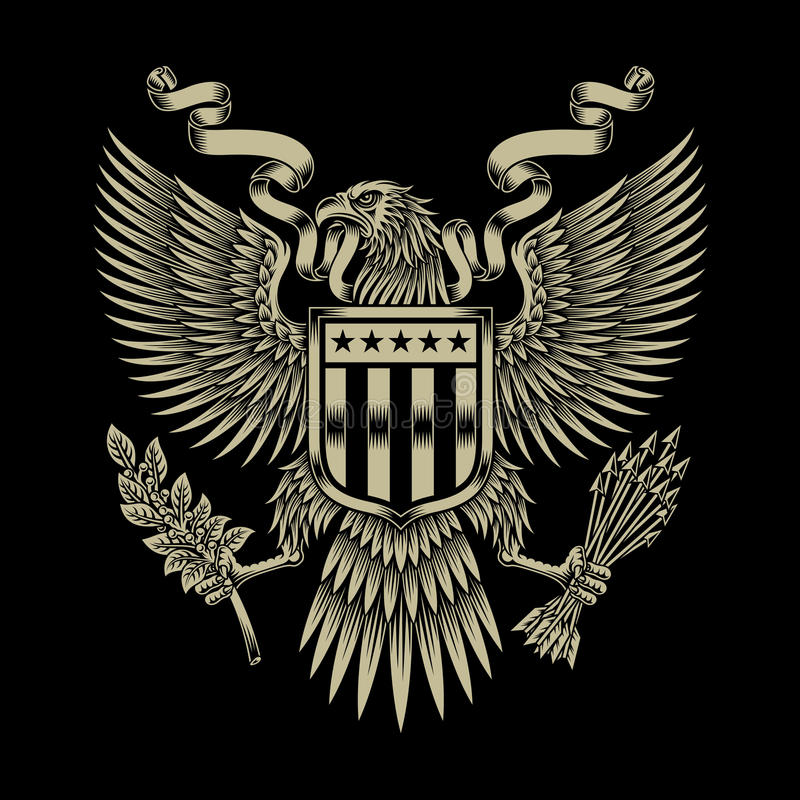 Amerikaans Eagle Emblem royalty-vrije illustratie
