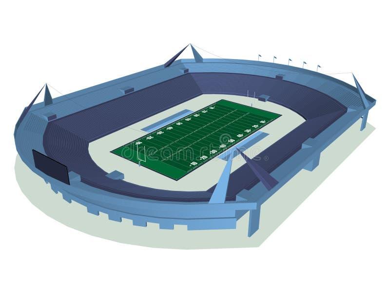 Amerikaans Foodball-Stadion vector illustratie