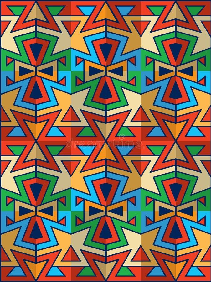 Amerikaans Indisch behang vector illustratie