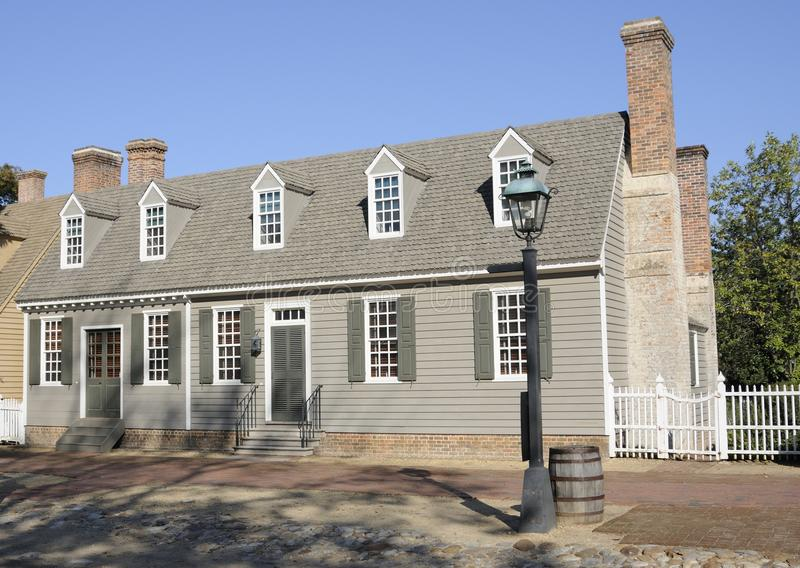 Amerikaans koloniaal stijlhuis stock afbeelding