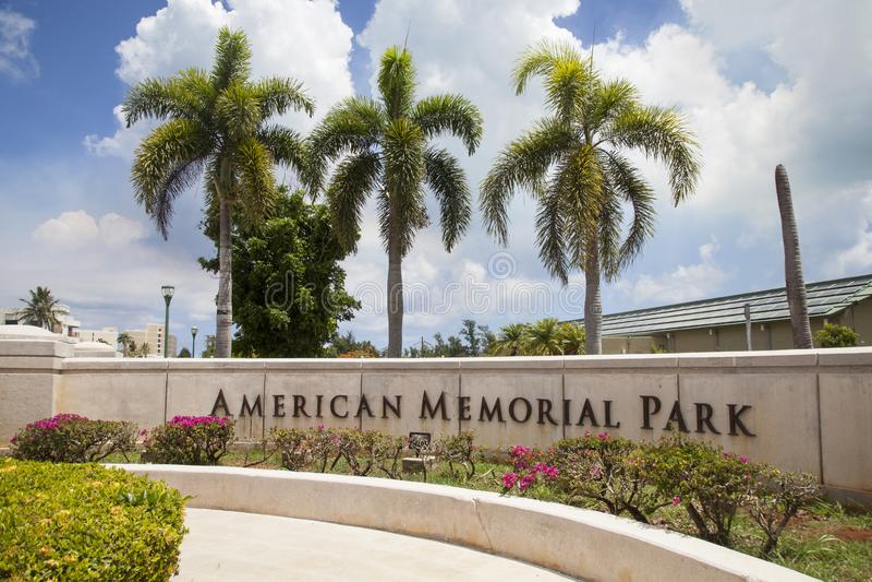 Amerikaans Memorial Park, Saipan royalty-vrije stock foto's