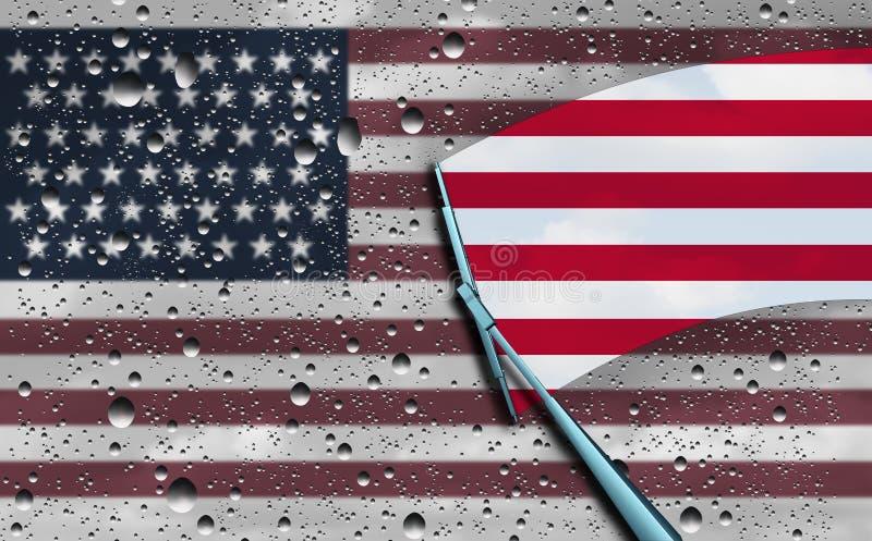 Amerikaans Optimisme royalty-vrije illustratie