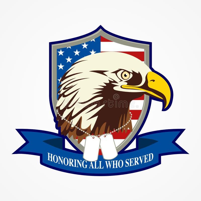Amerikaans Schild en Eagle royalty-vrije illustratie