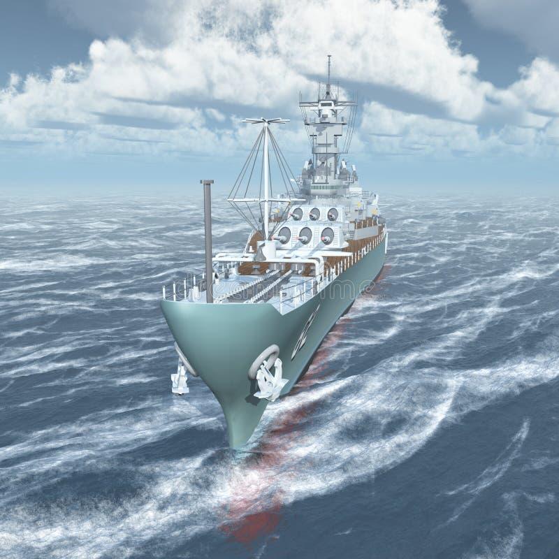 Amerikaans slagschip van Wereldoorlog II royalty-vrije illustratie