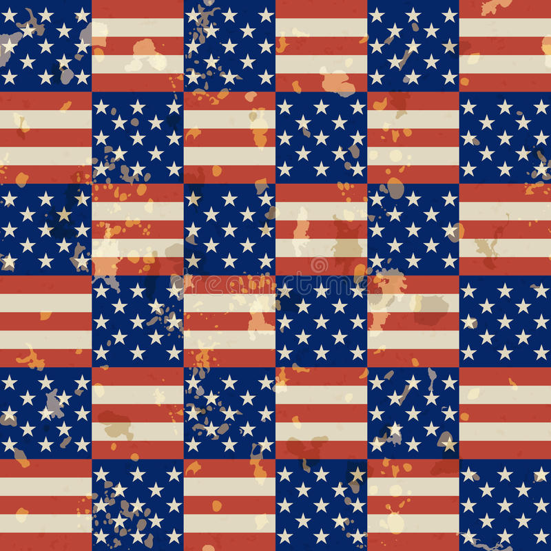 Amerikaans uitstekend naadloos patroon royalty-vrije illustratie