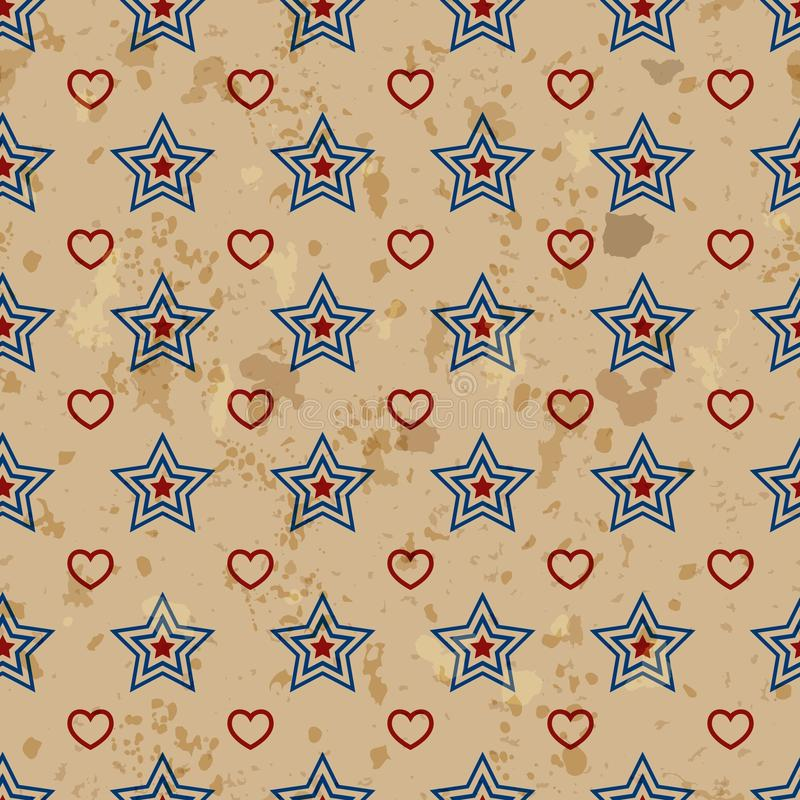 Amerikaans uitstekend naadloos patroon stock illustratie