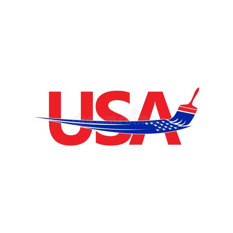 Amerikaans Verfembleem vector illustratie
