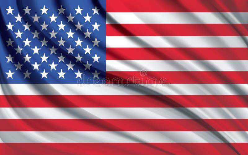 Amerikaans vlag echt effect vector illustratie