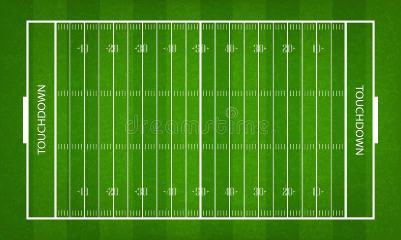 Amerikaans voetbalgebied Groene graspatroon en textuur voor de achtergrond van de voetbalsport royalty-vrije illustratie