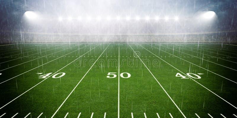 Amerikaans voetbalstadion stock fotografie