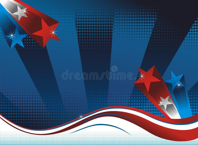 Amerikaanse achtergrond stock illustratie