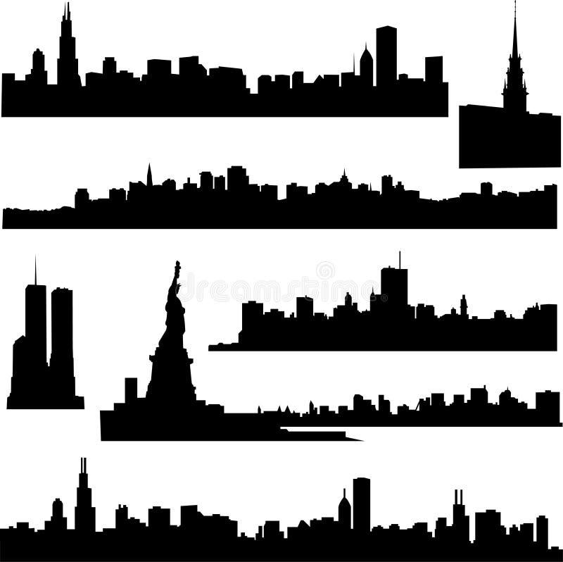 Amerikaanse architectuur royalty-vrije illustratie