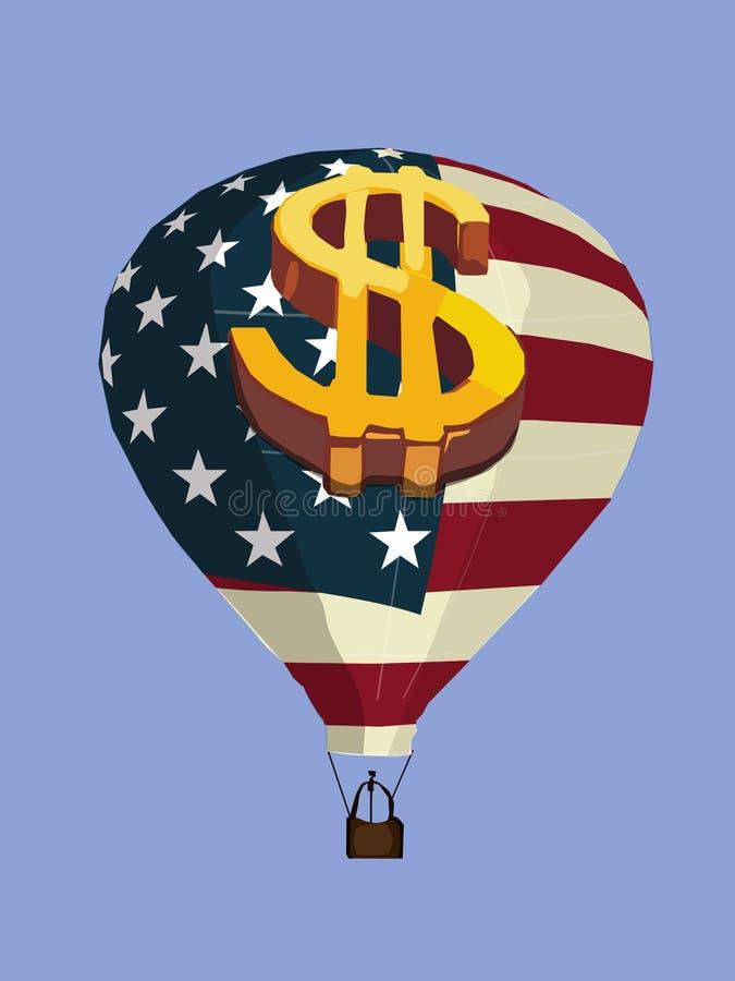 Amerikaanse bal stock illustratie