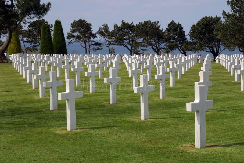 Amerikaanse Begraafplaats in Normandië stock foto