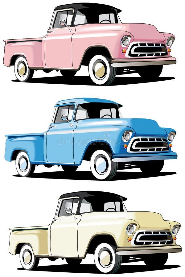 Amerikaanse bestelwagen royalty-vrije illustratie