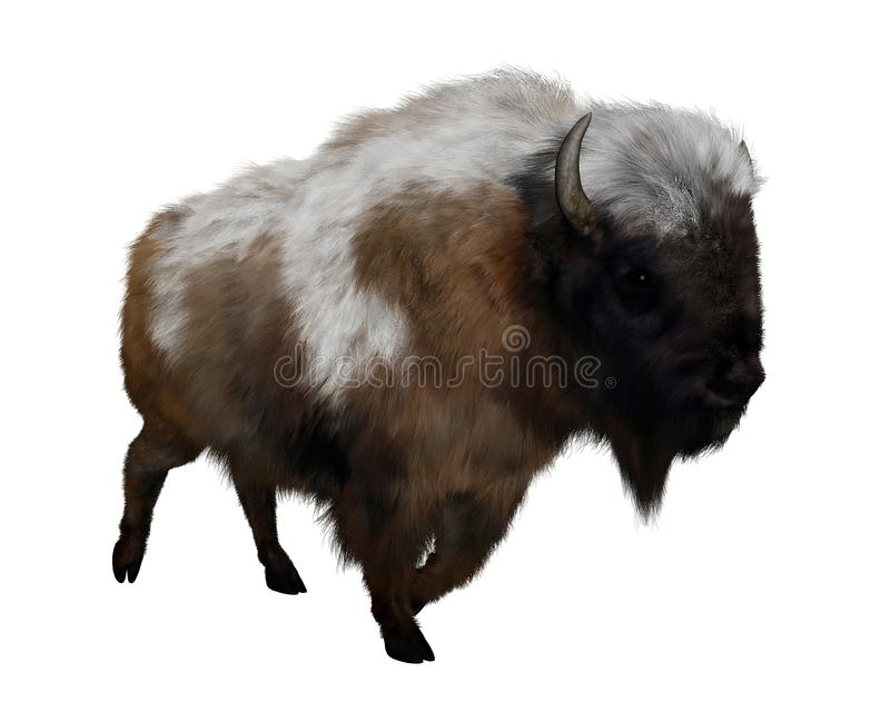 Amerikaanse bizon met 3D sneeuw - geef terug royalty-vrije illustratie