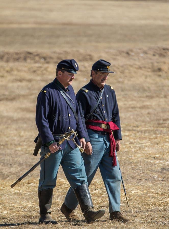 Amerikaanse Burgeroorlogambtenaren stock foto's