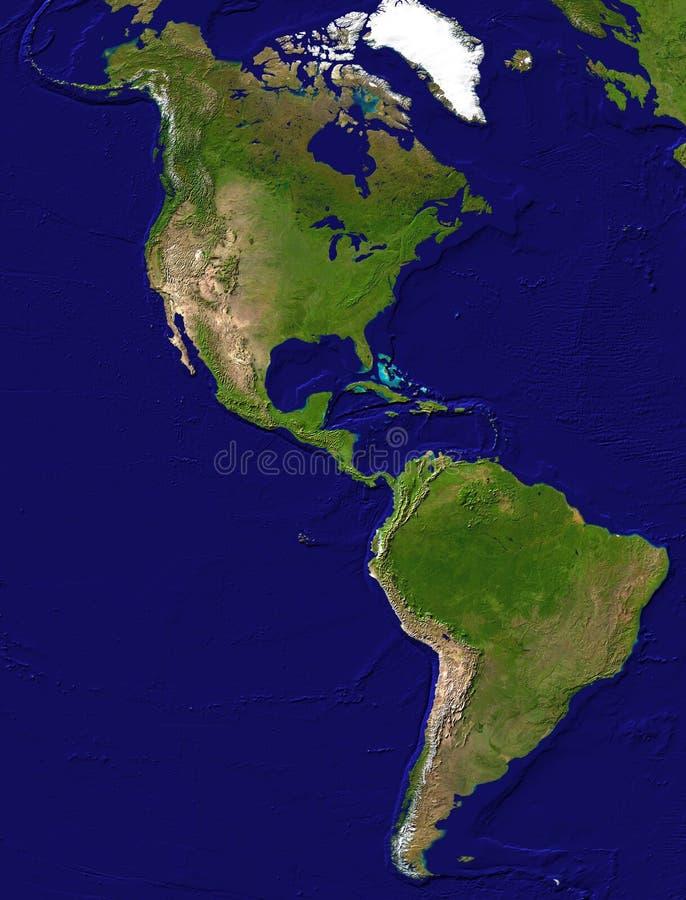 Amerikaanse continentmening vector illustratie