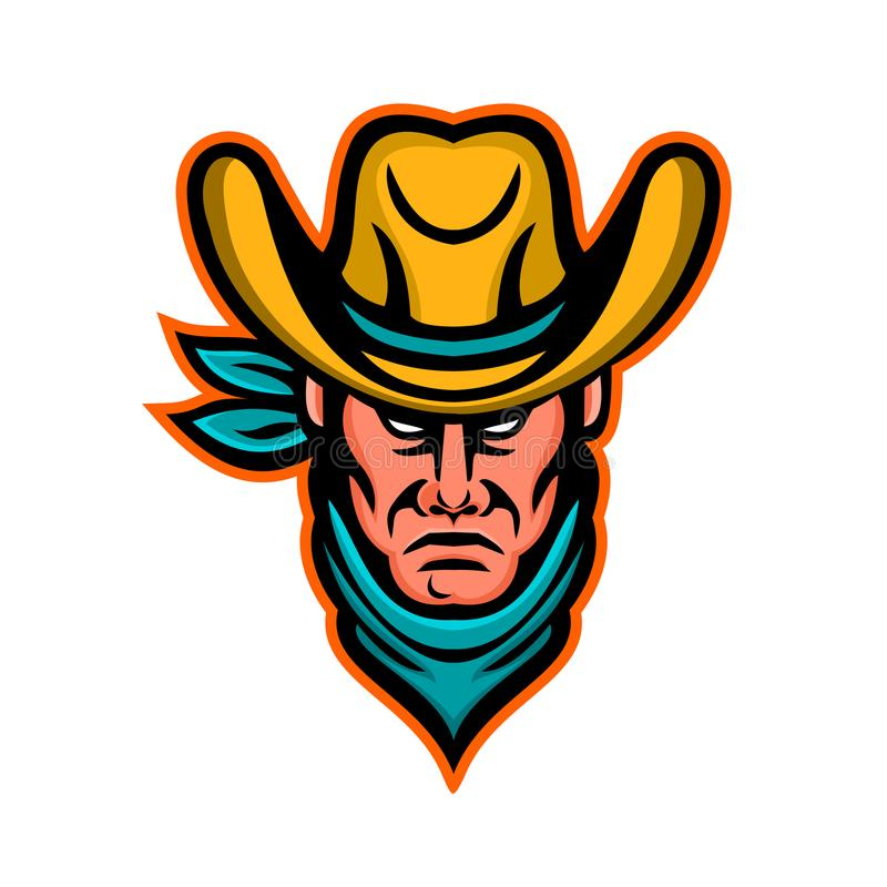 Amerikaanse Cowboy Sports Mascot vector illustratie