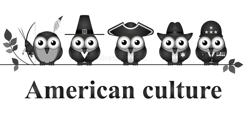Amerikaanse cultuur stock illustratie