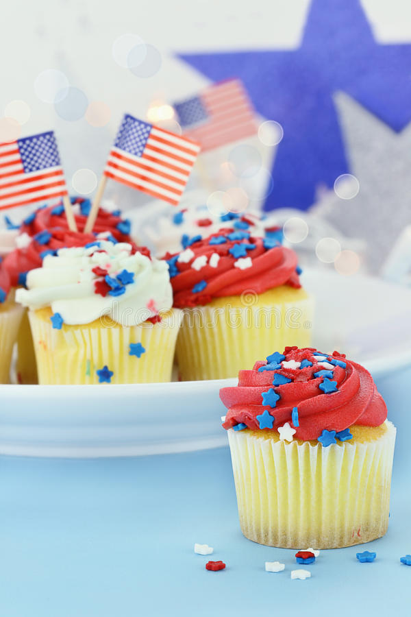 Amerikaanse Cupcakes royalty-vrije stock afbeelding