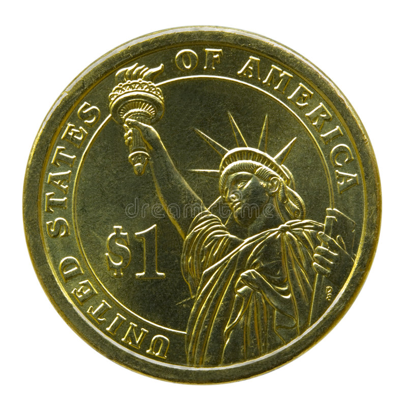 Amerikaanse Dame Liberty Coin stock foto