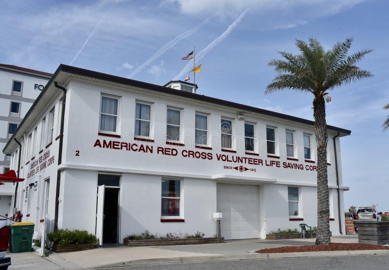 Amerikaanse de Besparingskorpsen van het Rood Kruis Vrijwilligersleven, Jacksonville, Florida stock foto