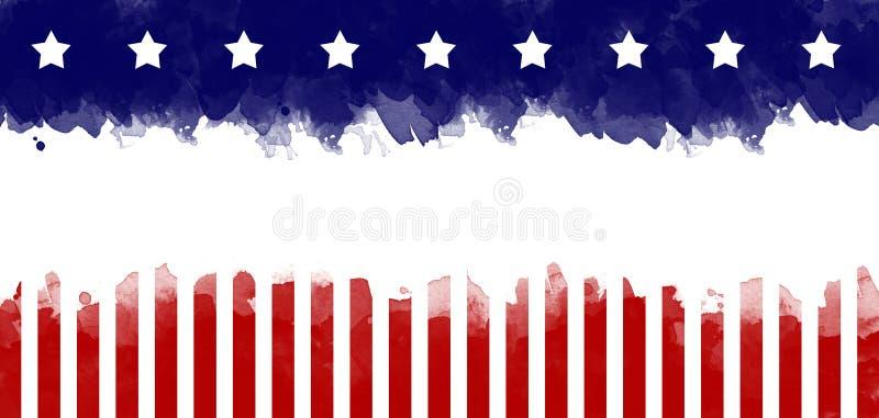 Amerikaanse de kaartachtergrond van de vlag grunge groet royalty-vrije stock afbeelding