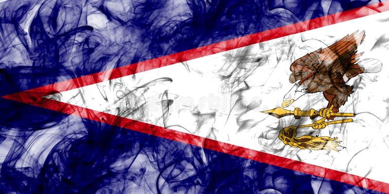 Amerikaanse de rookvlag van Samoa, FL van het grondgebied van Verenigde Staten afhankelijk stock illustratie