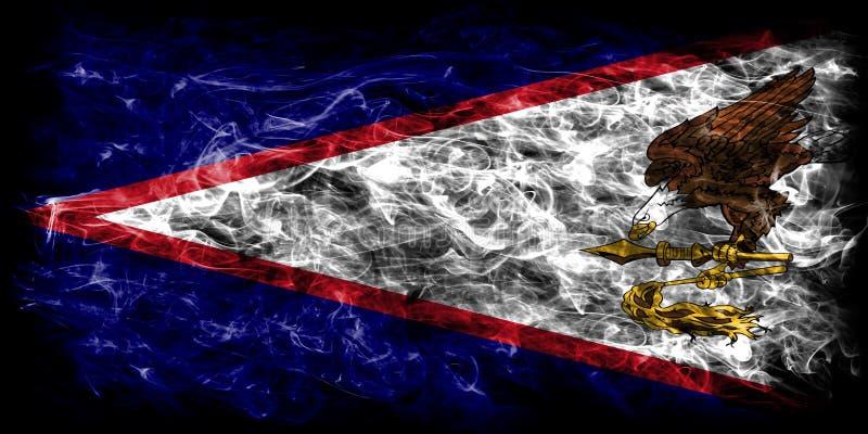 Amerikaanse de rookvlag van Samoa, FL van het grondgebied van Verenigde Staten afhankelijk royalty-vrije illustratie