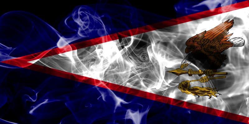 Amerikaanse de rookvlag van Samoa, FL van het grondgebied van Verenigde Staten afhankelijk vector illustratie