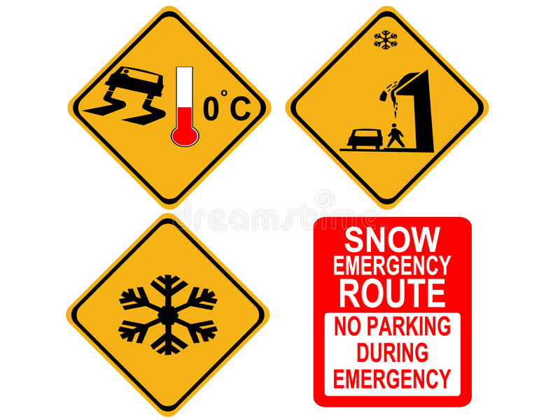 Amerikaanse de winterwaarschuwingsseinen vector illustratie