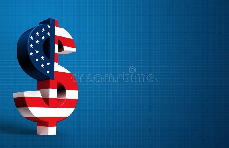 Amerikaanse Dollar royalty-vrije illustratie