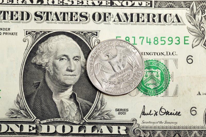 Amerikaanse dollar Close-up royalty-vrije stock fotografie